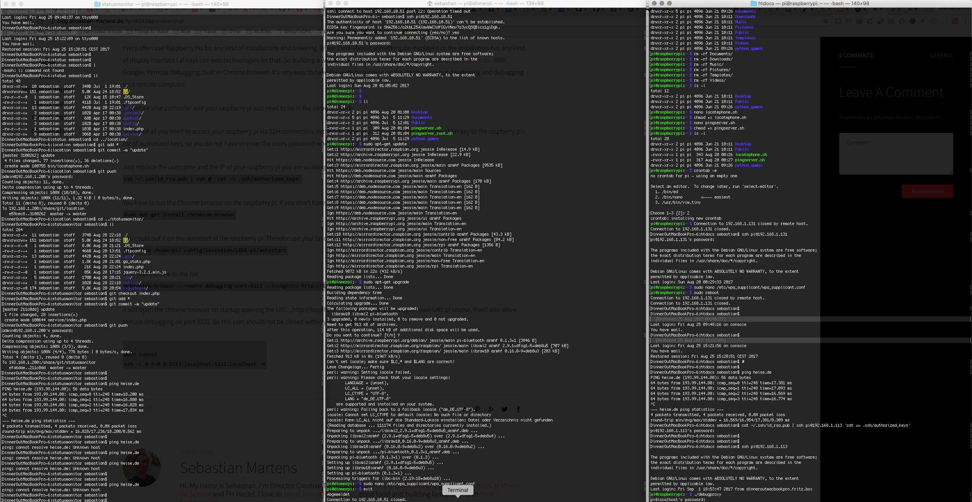Remote debug Chrome browser on Raspberry Pi – Sebastian Martens